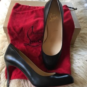 CHRISTIAN LABOUTIN Simple 85 Leather Pumps Black